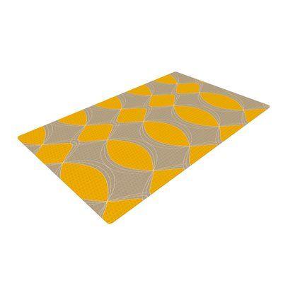 East Urban Home Julia Grifol Geometries Yellow Area Rug Rug Size: 2' x 3'