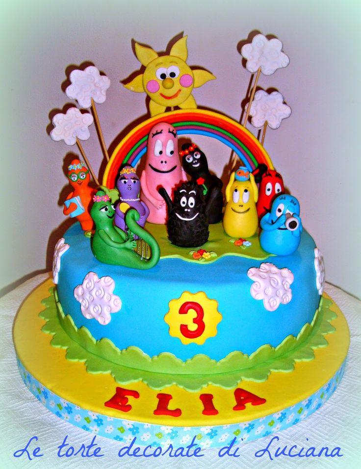 le torte decorate: torta barbapapa' maschietto