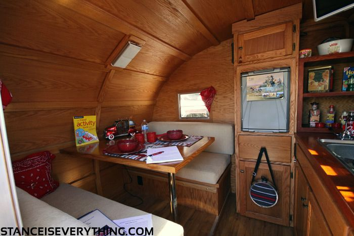 Wood interior caravans pinterest teardrop campers for Teardrop camper interior ideas