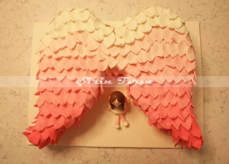 angel wings cake, melek kanadı pasta , butik pasta, birthday cake, doğum günü pastası