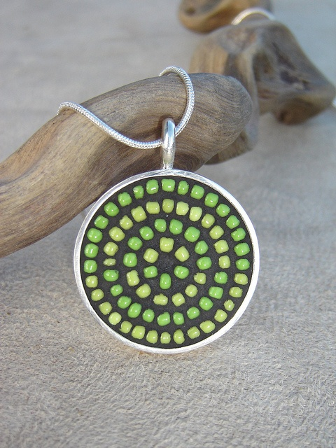 Lime Circle Pendant by Opus Mosaics, via Flickr
