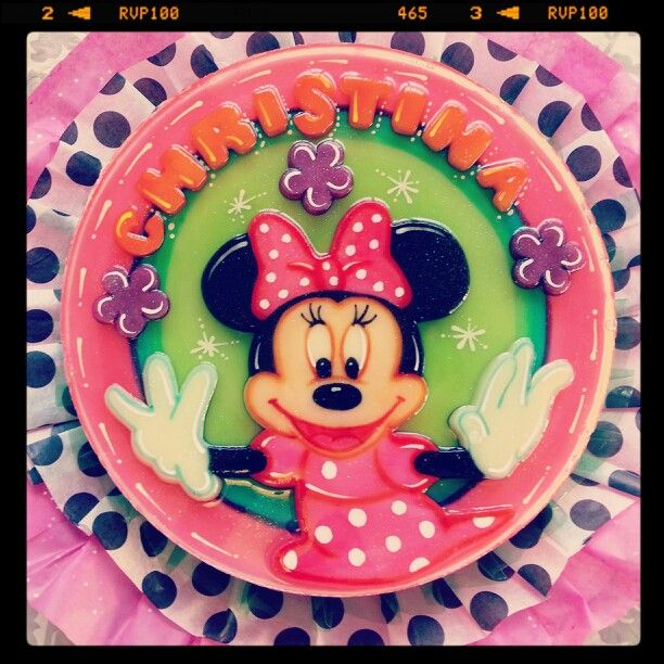 Minnie Mouse Gelatin/ Gelatina/ Jello