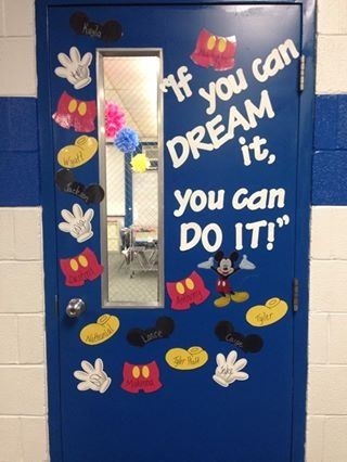 Mickey Mouse inspired door for my classroom