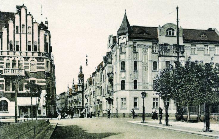 Bytom ponad sto lat temu. Ulica Gimnazjalna - obecnie Moniuszki.