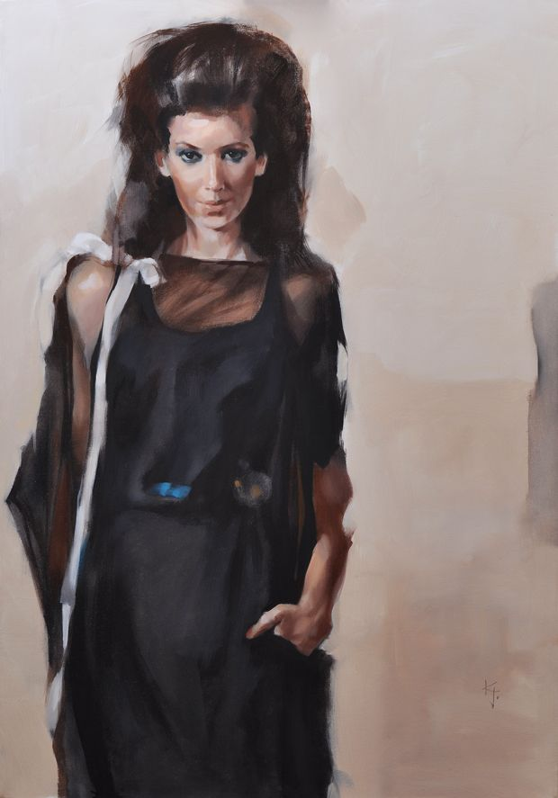 black / oil on canvas, 70x100 cm / private ownership, New York