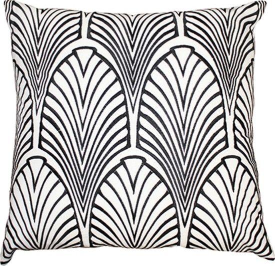 Mulberi Metropolitan Black White Cushion