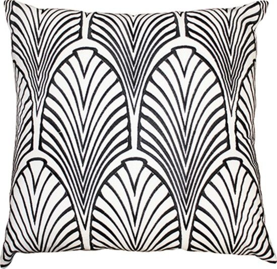 Mulberi Metropolitan Black White Cushion