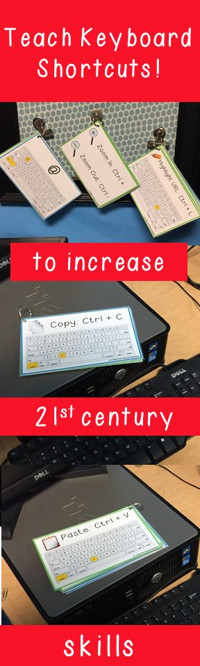 Keyboard Shortcuts make everyone, faster and more efficient on the computer!  Teach your students the 21st century skills they need!