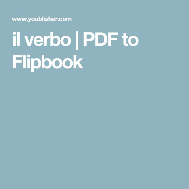 il verbo   PDF to Flipbook