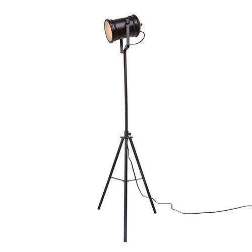 LNC Plug-in Tripod Floor Lamp, Adjustable Spotlight Floor Lamp for Bedroom, Living Room, Brown Finish