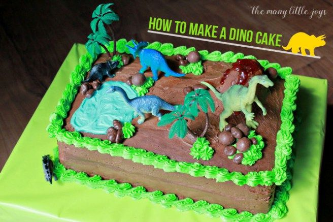Have a dino-loving birthday boy or girl? This dinosaur world cake will make them roar for joy!