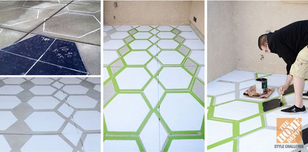 The Home Depot Patio Challenge Outdoor Decorating Ideas: Patio painted floor, step-by-step | www.brittanymakes.com