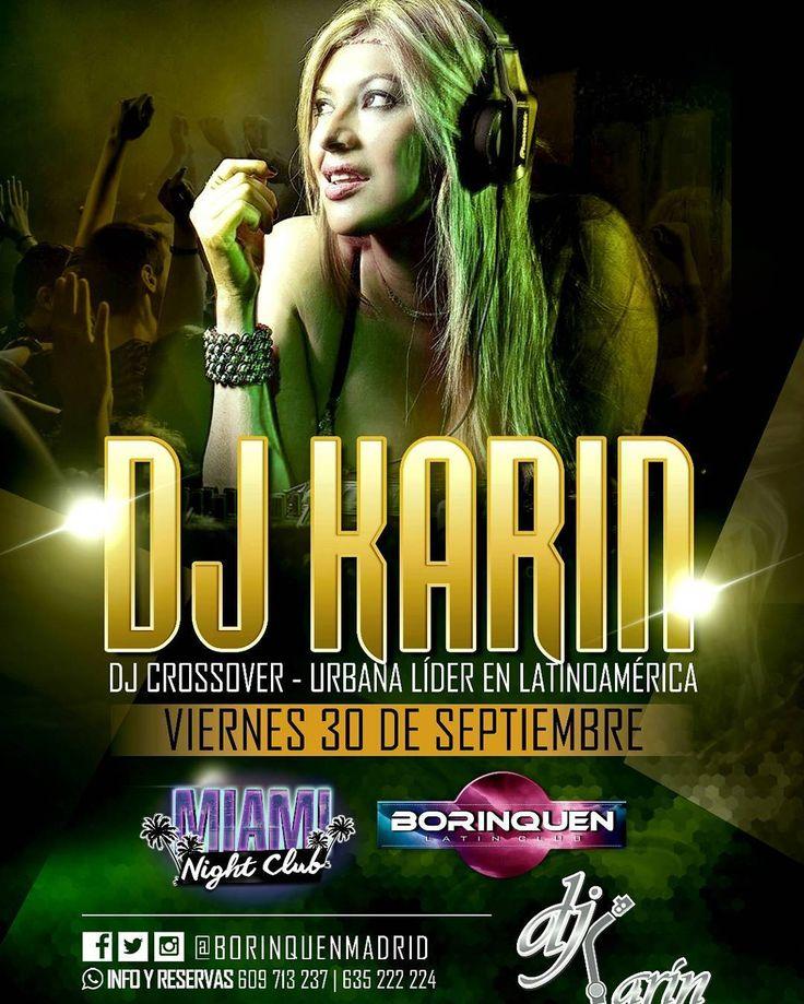 Esta noche tenemos Rumba con la DJane colombiana  @djkarin_vip en la sala @borinquenmadrid  desde las 00:00  hasta la 01:00 todos chicas y chicos gratis no cover. Música comercial música latina y mucha mucha Rumba. Nos vemos esta noche