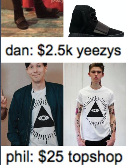 we all know about dan and his ridiculous indulgence on spending money on clothes etc...