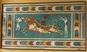 88 - CRETA 06 - Es pintura policroma, con una marcada preferencia por los ocres. Al igual que los egipcios, los cretenses observan cánones específicos. Sin embargo, el arte cretense muestra más vida y gusto por este tipo de pintura.