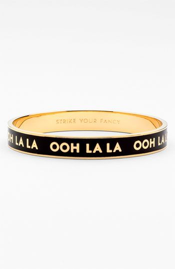 Who doesn't need a little ooh la la in their life?Spade Ohh, Style, York Idioms, Bangles, New York, Accessories, Jewels Jewels, Kate Spade