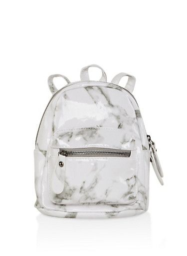 7758083ef7e5 Marbled Faux Leather Mini Backpack