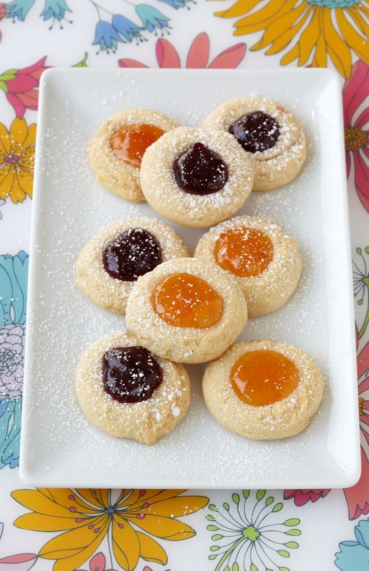Apricot and Raspberry Thumbprints from All the Good Cookies