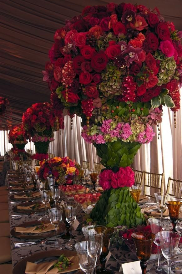 Floral Wedding Table Decoration ♥ Amazing Floral Wedding Centerpieces