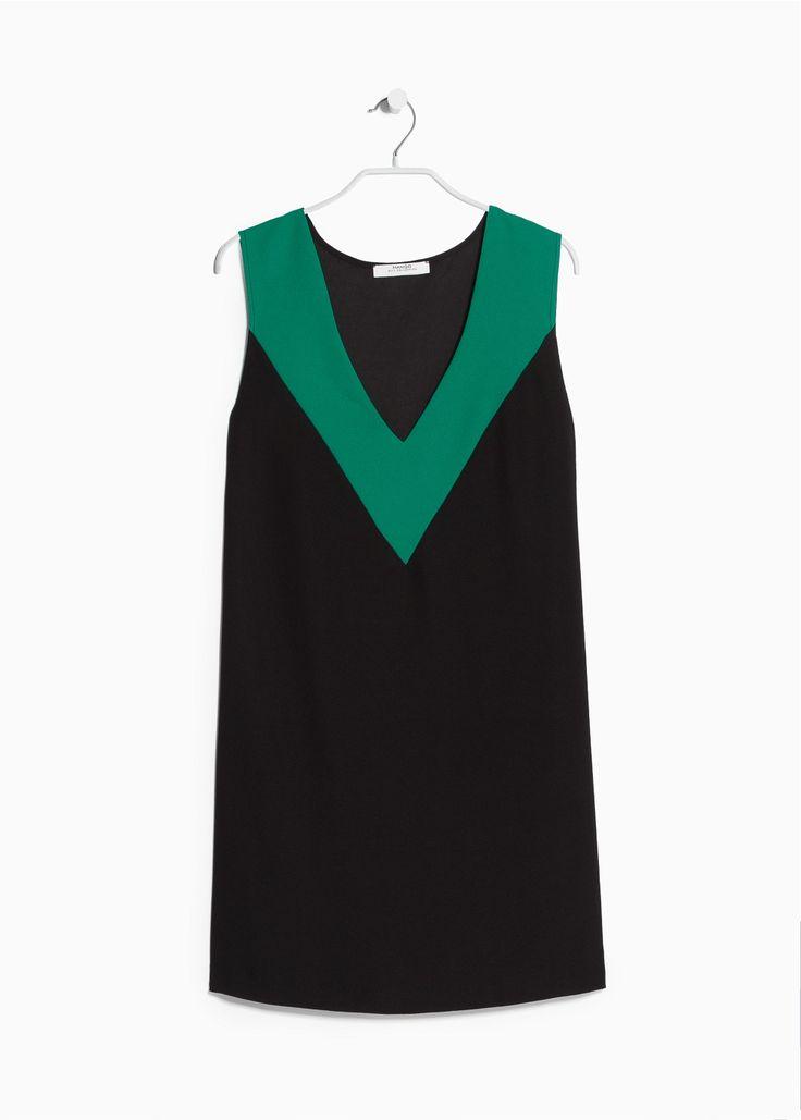 Vestido decote V