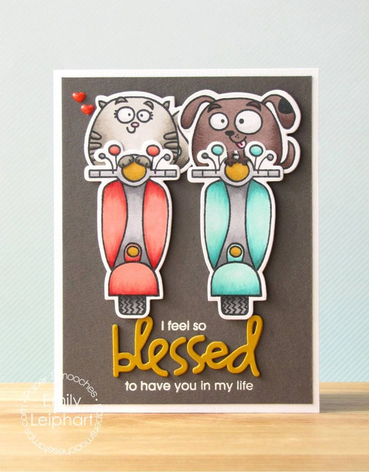 Card by PS DT Emily Leiphart using PS Religious Words dies, Chubby Chums, Chums Icons, Spiffy Scooters, Scooters Icons, Spiritual Sampler