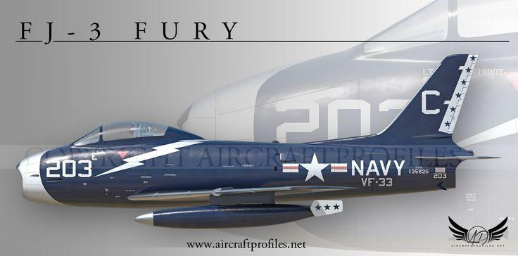 FJ-3 Fury, VF-33, 1955
