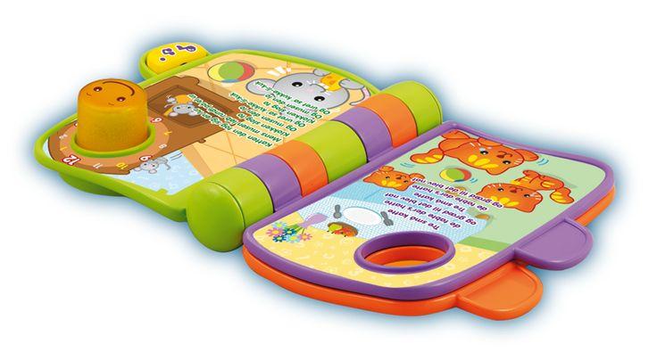 VTECH rim- og opdagelsesbog Eventyrlig opdagelsesbog med rim, lydeffekter, musik og udtryk til de mindste børnMed denne VTECH-rim- og opdagelsesbog kan du give familens mindste en sjov, lærerig og eventyrlig historie. Lærer barnet om dyr, børnerim og de første ord. Med store knapper med lys og over 20 sange, melodier lyde og udtryk. - Bruger 2 AAA-batterier.