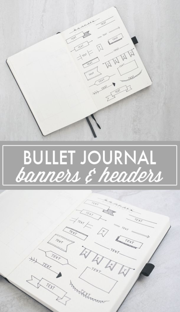 Bullet Journal Banners & Headers #bulletjournal #doodles