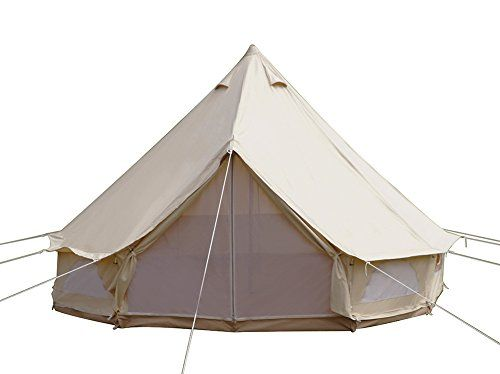 Dream House Diameter 4m Outdoor Luxury Cotton Canvas Family C&ing Bell Tents with Stove Hole.  sc 1 st  Pinterest : tents with air conditioning hole - memphite.com
