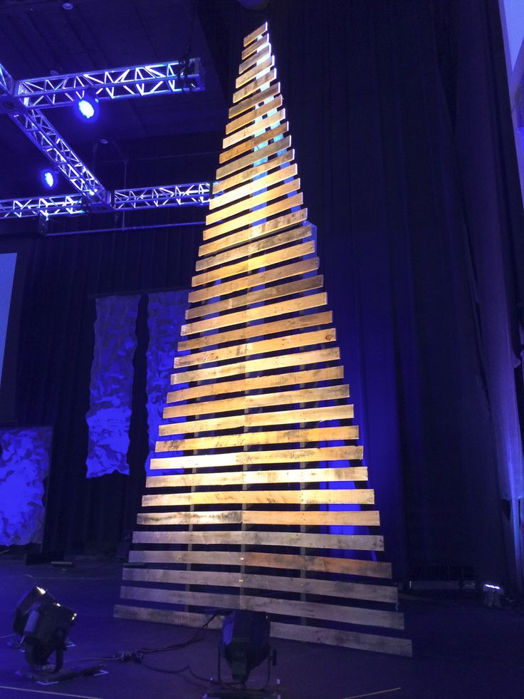 stage design christmas tree made from pallets - Google Search