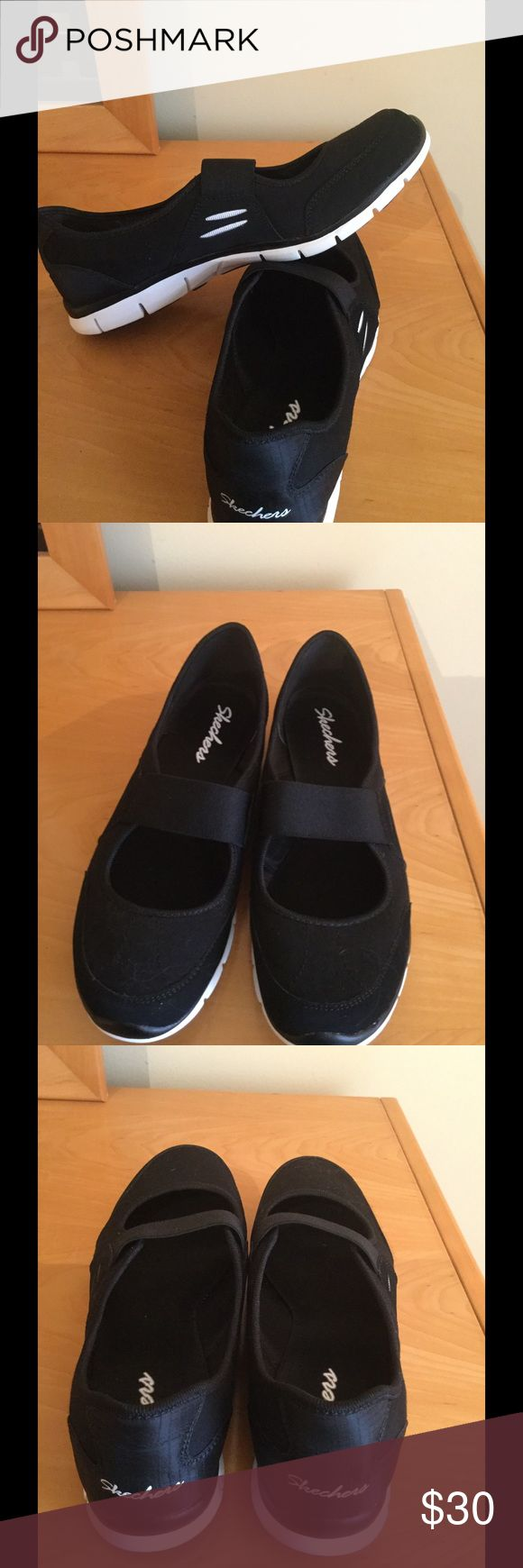 New slip on black Skechers Sz 8 New Sz 8 black slip on Skechers . No box Skechers Shoes Flats & Loafers