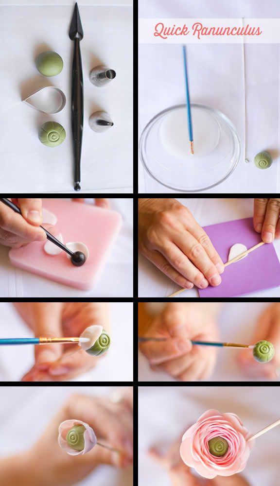 #Gumpaste Ranunculus tutorial: http://cakecentral.com/b/tutorial/gumpaste-ranunculus-tutorial.