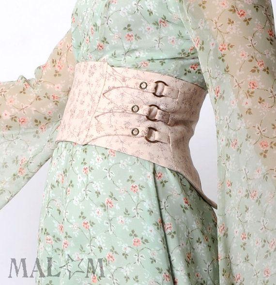 Wide floral belt, Pale pink belt, Vintage cotton, Light pink floral belt, Womens belt, Couture belt, Spring fashion, Waist cincher belt
