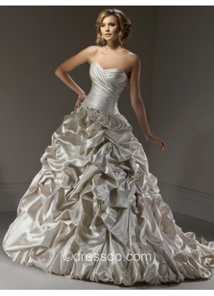 Wedding Dress with Ruched