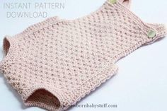 "Baby Knitting Patterns Baby romper Knitting pattern ""Mia""- download pdf- ..."