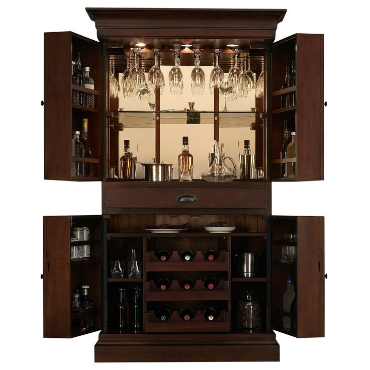 wine bar cabinet arianna brown stain home bar wine cabinet storage 29292