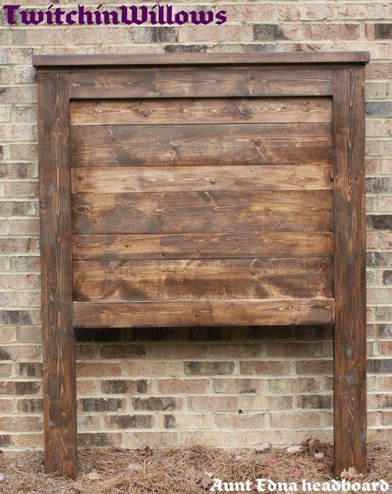 LOVE this! Solid Wood Pallet/ Barwood style Twin by TwitchinWillows on Etsy, $160.00