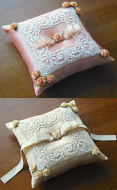 ateliersarah's ring pillow/Decorated the frame lace 2 color