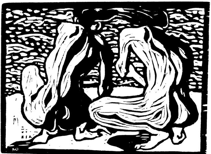 Max Pechstein:  Am Wasser, Holzschnitt, 1907