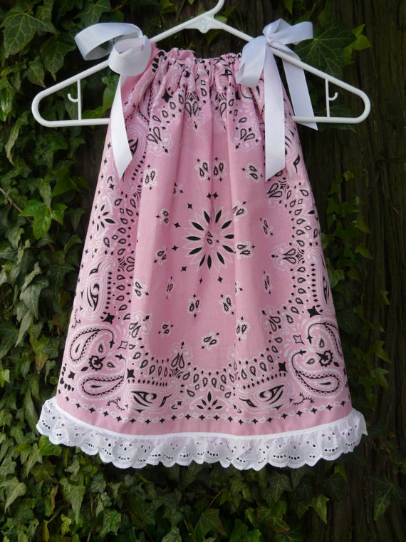 Summer dresses for the girls!  Lots of kerchiefs left over from barbque dinner party