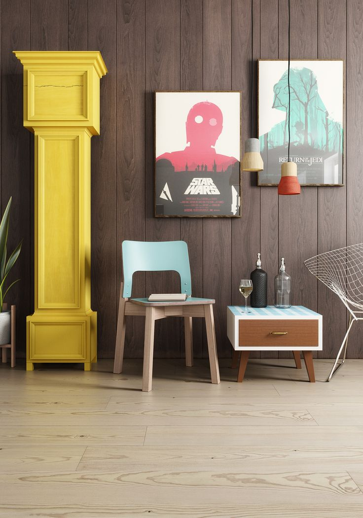 Bohemian Modern Interior by Kaiserbold  Our free 3d model: S293 Chair by Balzar Beskow http://dimensiva.com/s293-chair-by-balzar-beskow/