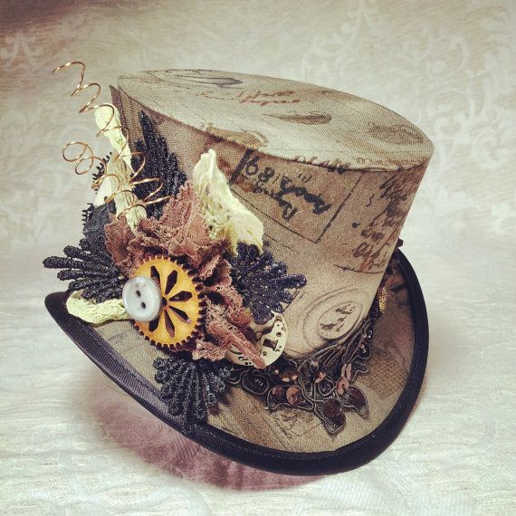 3 top hat Steampunk Tesla Clockwork Victorian by OohLaLaBoudoir