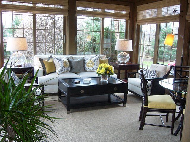 Martha OHara Interiors Votel Sunroom 1 IdeasSunroom DecoratingRustic