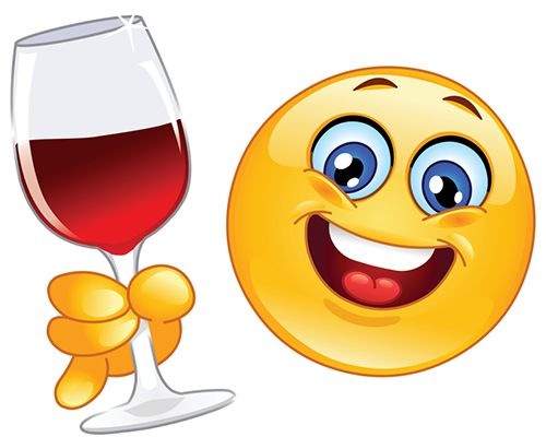 Wine drinking smiley....oh yeah my kind of smile!