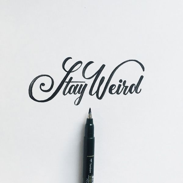 Lettering by colin tierneymedium used tombow fudenosuke