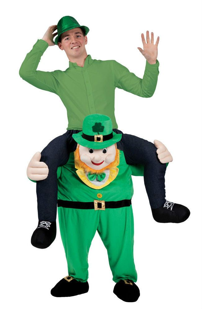 Carry Me Piggy Back Deluxe Leprechaun St Patrick's Irish Fancy Dress Funny Xmas #CompleteOutfit