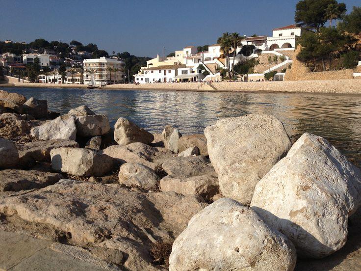 The Gorgeous Beach Of El Portet. #ElPortetMoraira