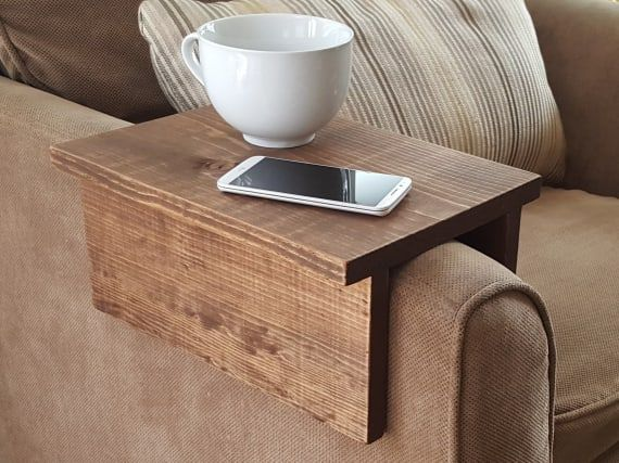 Simply Awesome Couch Sofa Arm Rest Wrap Tray Table For Tablet Etsy Arm Rest Table Sofa Arm Table Cool Couches