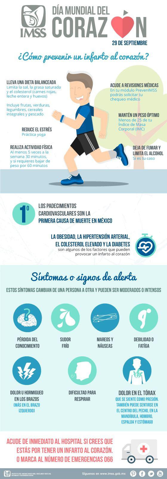 Día Mundial del Corazón. Recomendaciones para prevenir un infarto.