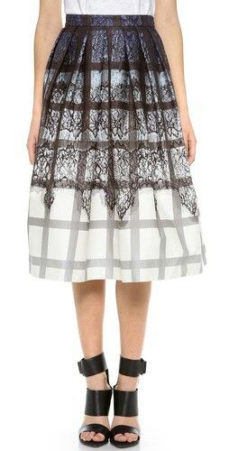 Lace plates ombre skirt
